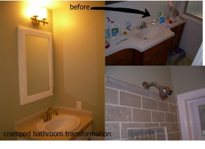 Cramped bathroom redux
