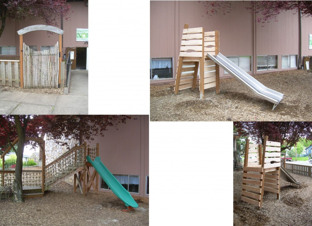 Donated time to outdoor play area